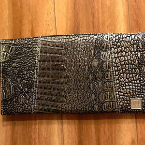 Miche Black And Silver Snakeskin Print Shell Purse